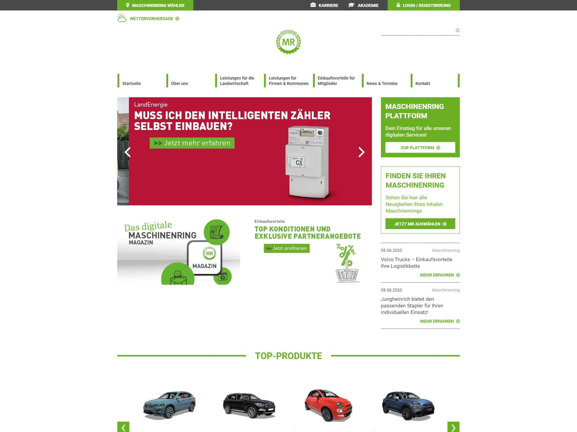 Maschinenringe Magento Webshop