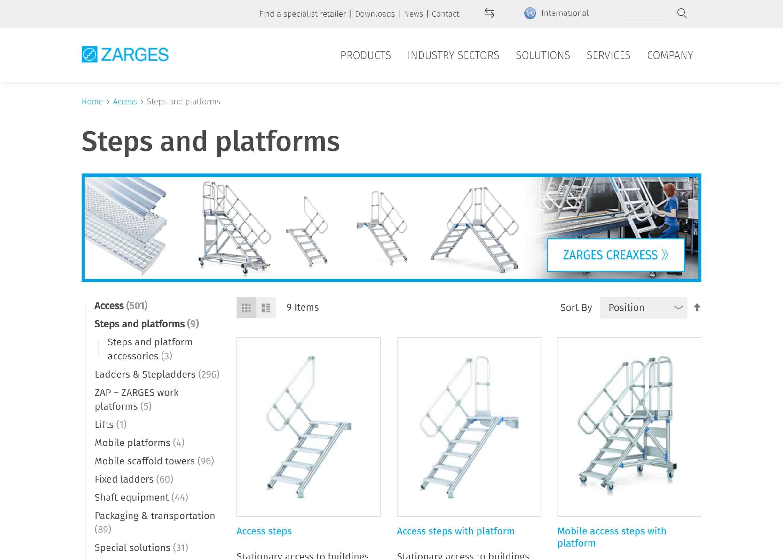 Zarges Webshop